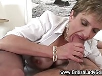 A naughty mature lady gets some action